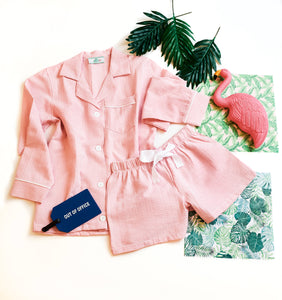 Seersucker Pajama Short Set