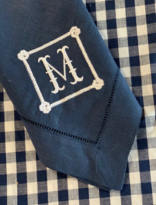 Nautical Navy Dinner Napkins