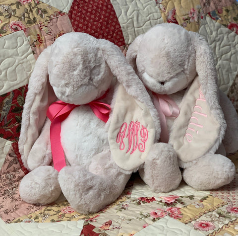 Personalized Plush Bunny