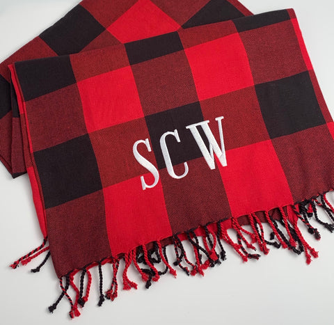 Buffalo Plaid Cotton Throw