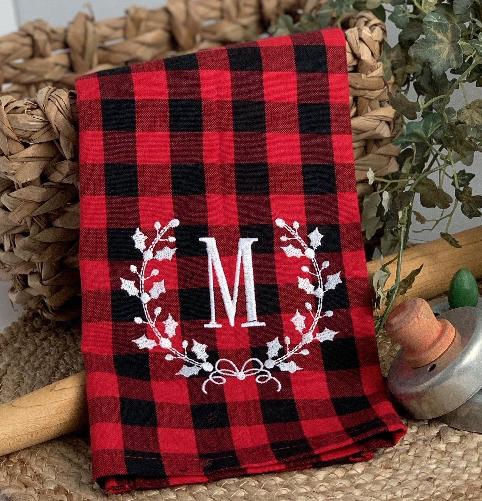 Buffalo Plaid Christmas Kitchen Towel