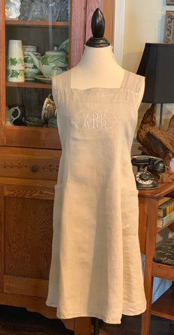 Linen Criss Cross Back Apron