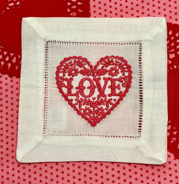 Valentine Cocktail Napkins