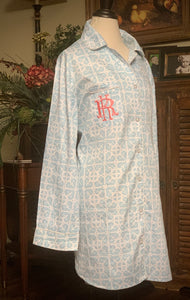 Garden Gate Sateen Sleep Shirt Pajama