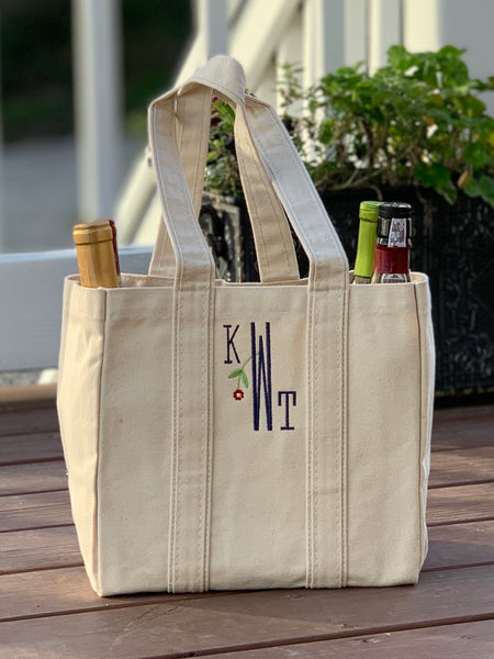 Four Bottle Wine Tote Bag