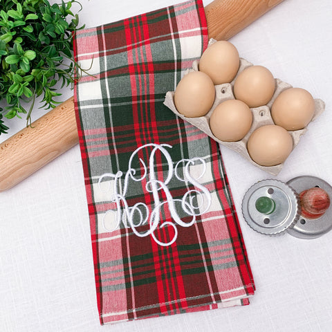 Plaid Christmas Kitchen Towel