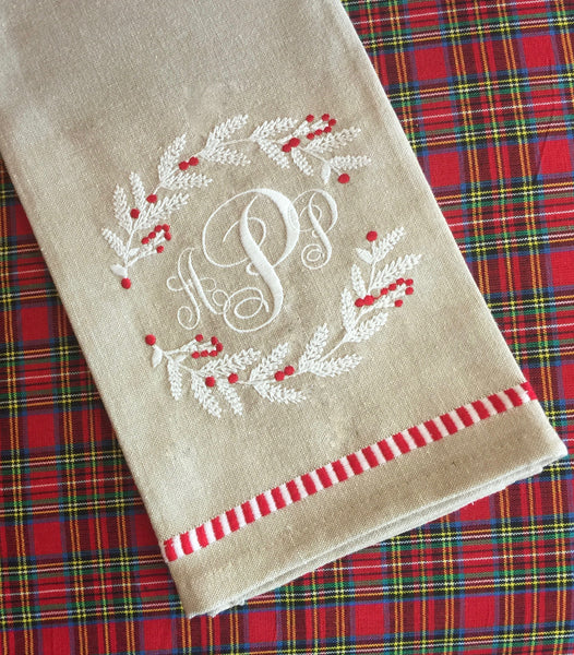 Holiday Wreath Kitchen Towel