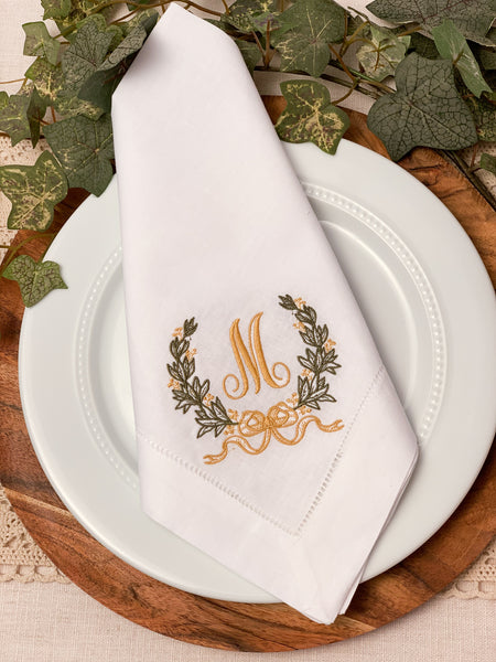 Sweet Wreath Dinner Napkins