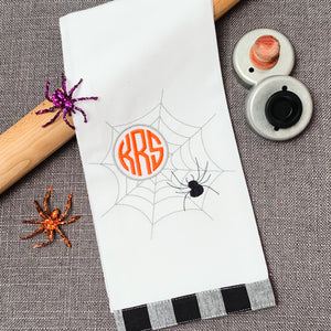 Halloween Monogram Kitchen Towel