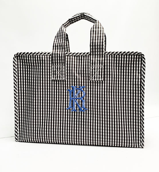 Gingham Market Tote