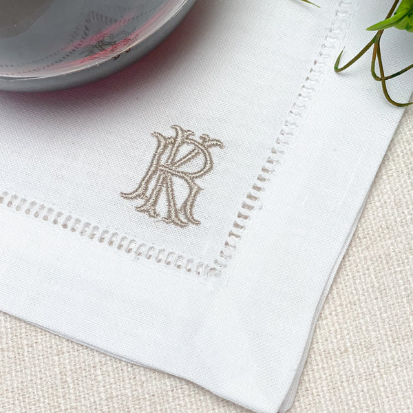 Willa Mono Small Cocktail Napkins