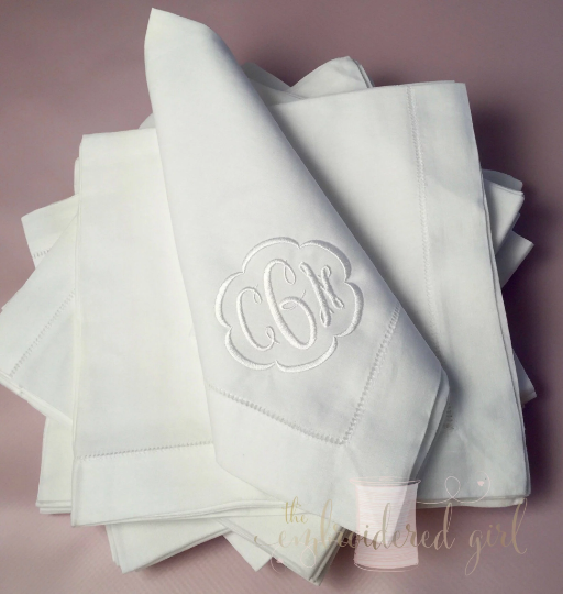 Monogrammed Linen Dinner Napkins, Linen Dinner Napkins, Monogrammed Dinner Napkins, Personalized Dinner Napkins, Personalized Linen Napkins