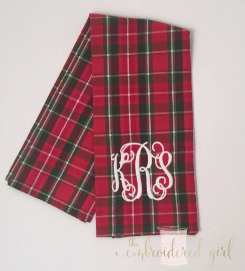 Tartan Plaid Kitchen Towel