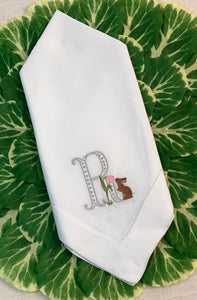 Easter Linen Dinner Napkins