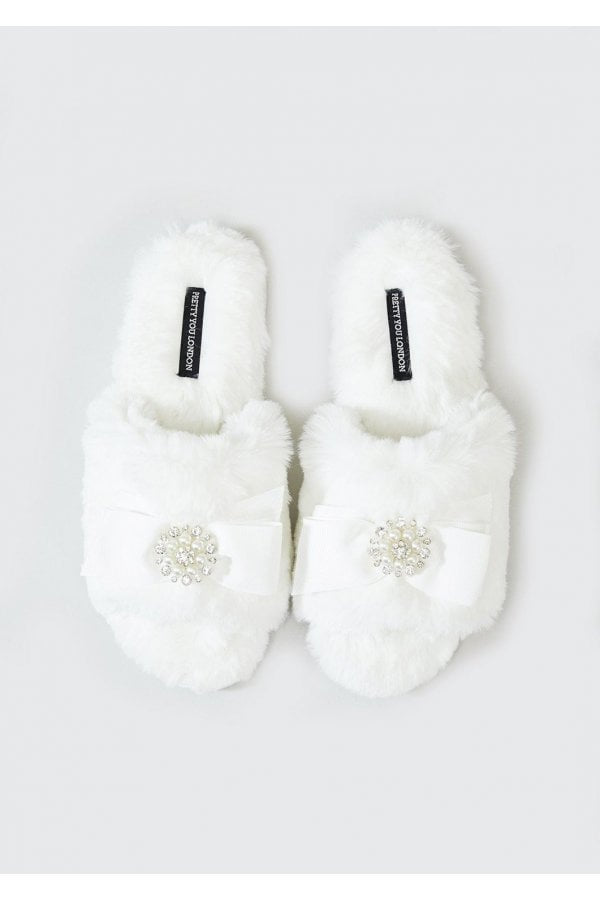Pretty You Anya Slippers - ivory