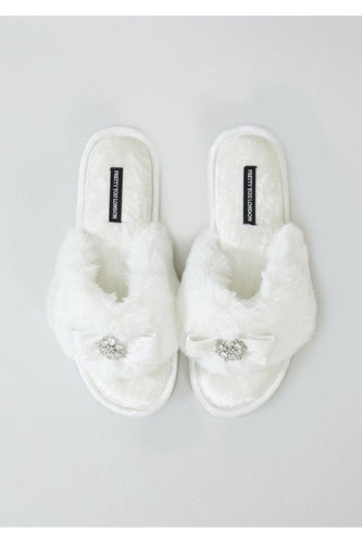 Pretty You Amelie Slippers - ivory