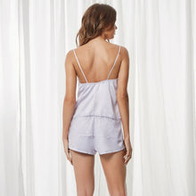 Load image into Gallery viewer, Elva cami and short pyjama set lilac