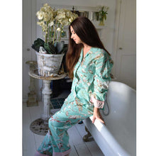 Load image into Gallery viewer, Mint Blossom Print Cotton Pyjama Set