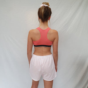 Tallulah Pink Coral Racer Back Crop Top