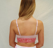 Load image into Gallery viewer, Tallulah Pink Lilac Lace Trim Bralette