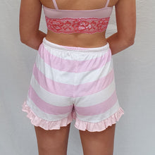 Load image into Gallery viewer, Tallulah Pink Pink Candy Stripe Shorts
