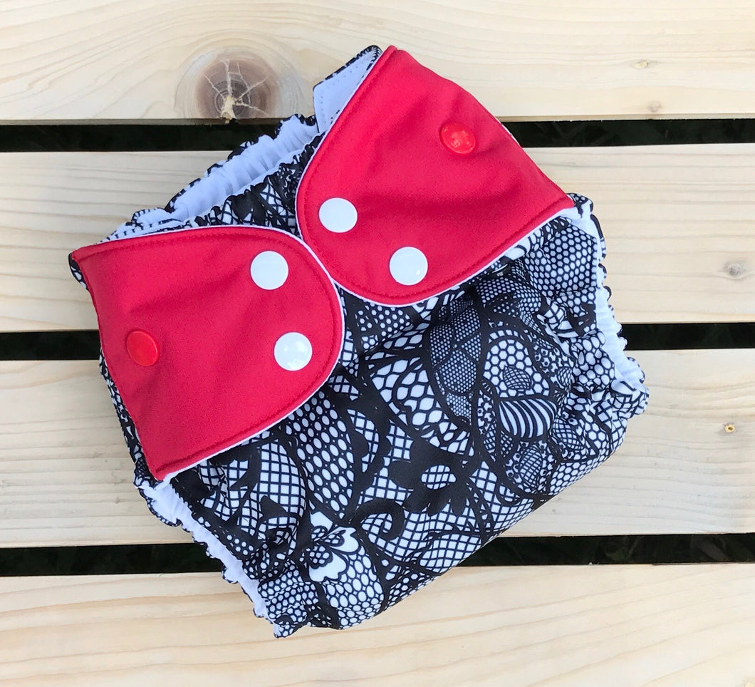Audrey's Little Black Dress - Quokka Pocket Diaper