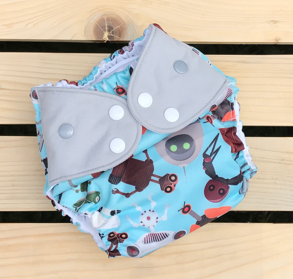 Wall-E and Friends - Quokka Pocket Diaper