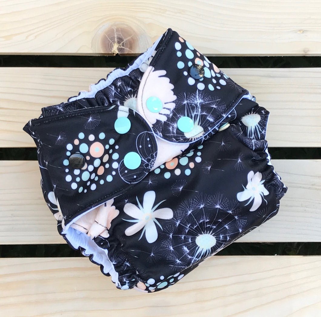 Midnight Garden - Quokka Pocket Diaper