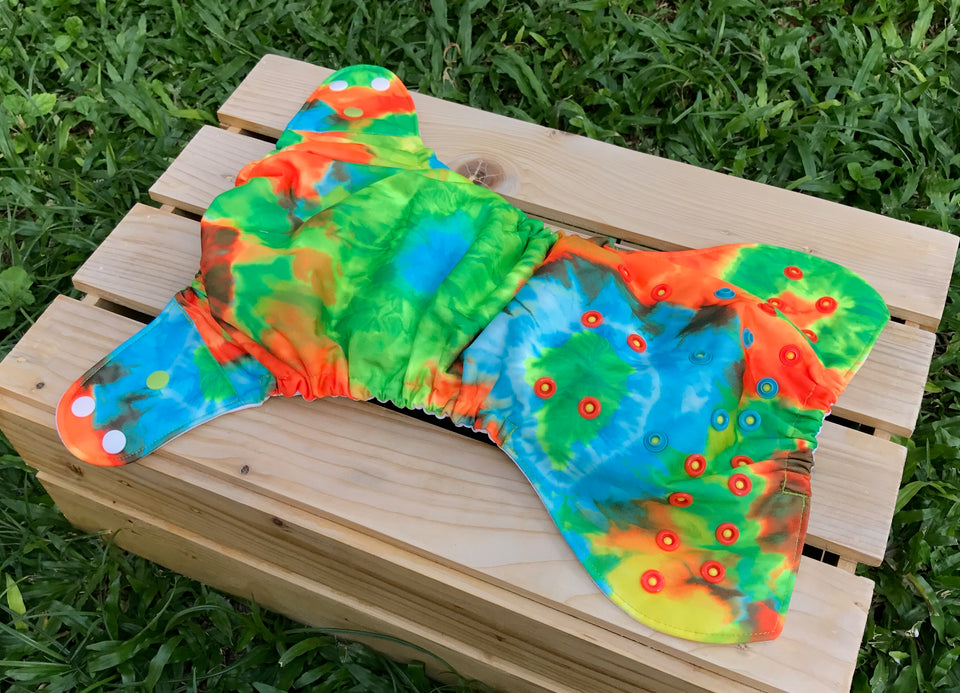 Tie Dyed Diaper - Quokka Pocket Diaper