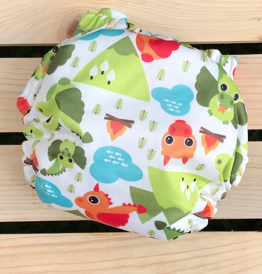 Fire Breather - Quokka Pocket Diaper