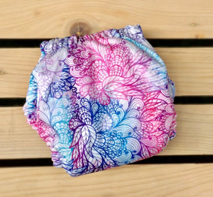 Whimsical Feathers - Quokka Pocket Diaper