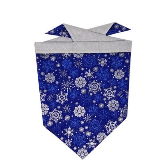 Snowflake bandana for dogs