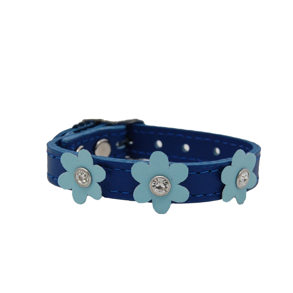 Blue Flower Power Pet Collar