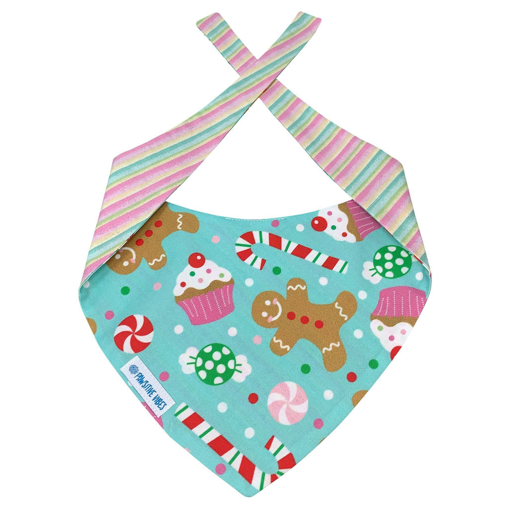 gingerbread man and cupcakes dog bandana