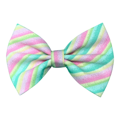 Pastel Striped Bow Tie for Dogs