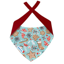 Load image into Gallery viewer, holiday themed dog bandana