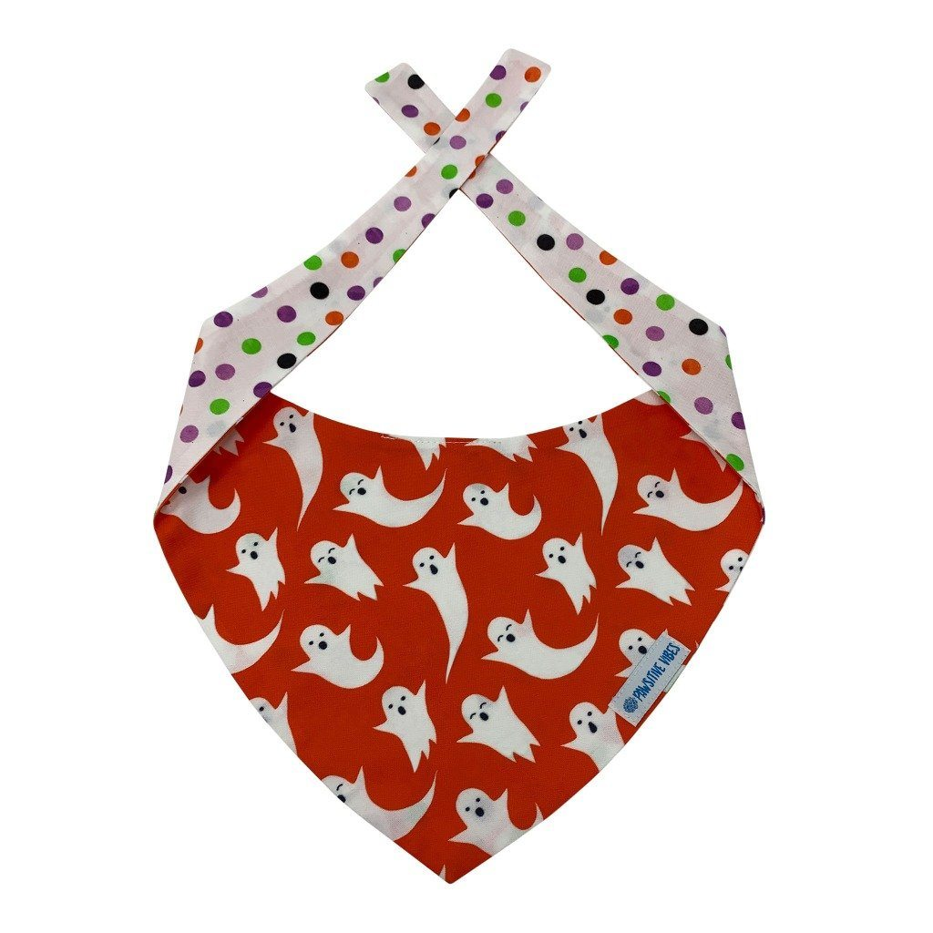 red dog bandana with white ghosts
