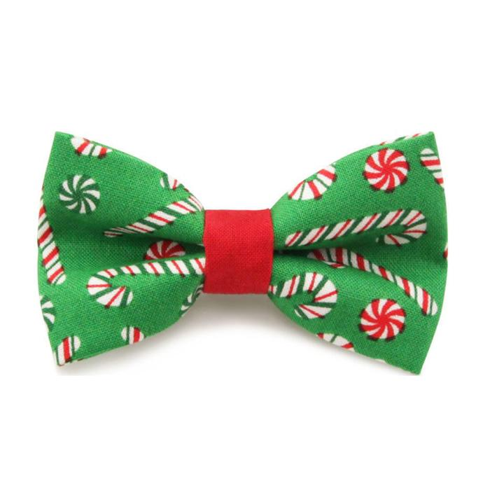 Green Candy Cane Pet Collar