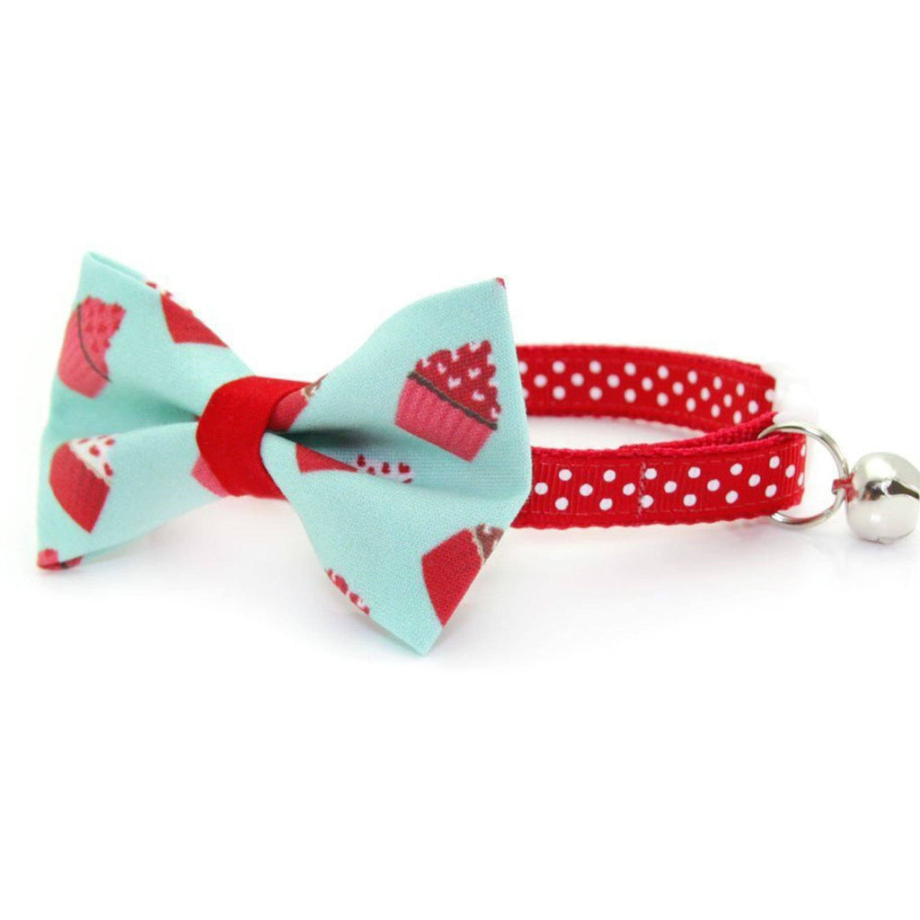 cupcake bow tie cat collar