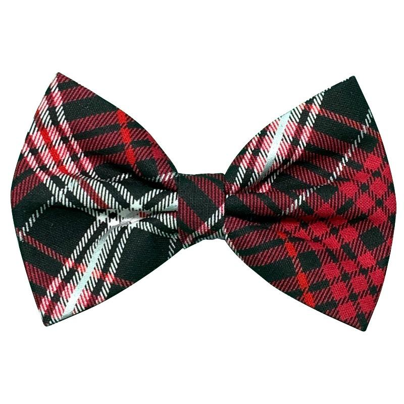 Red Plaid Bow Tie for Dogs