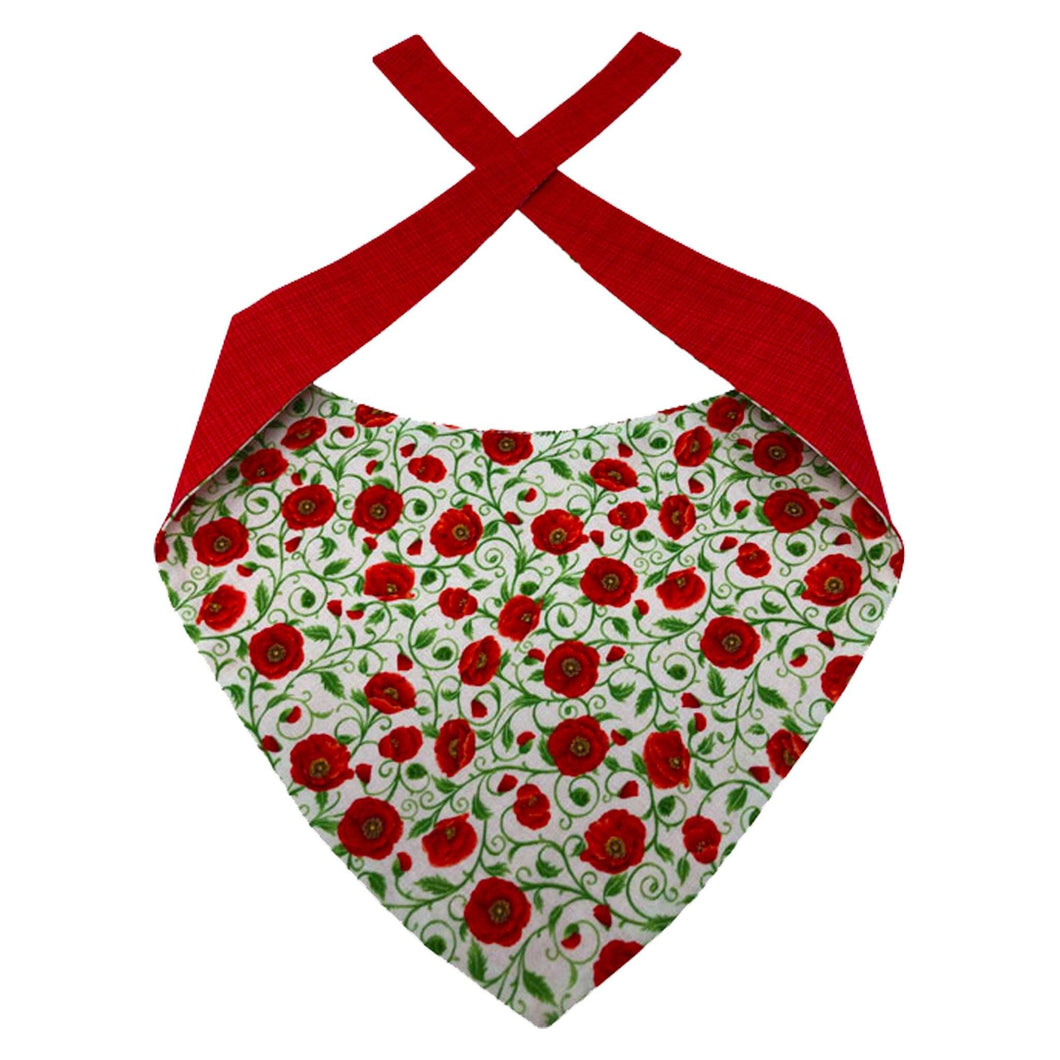 Poppy Palooza Dog Bandana | Poppy Dog Bandanas