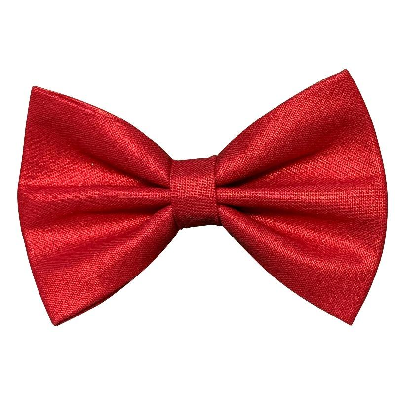 Shiny Red Bow Tie for Dogs