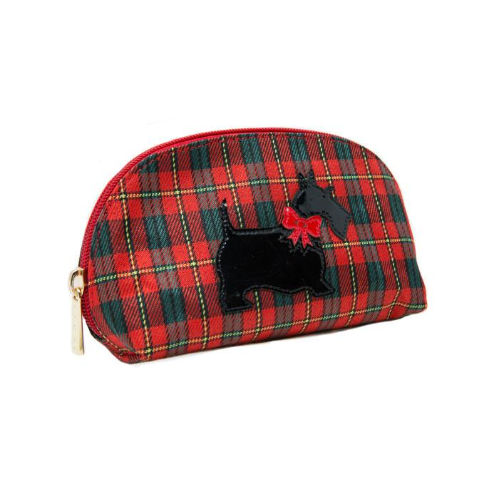 Red Plaid Scottie Pouch