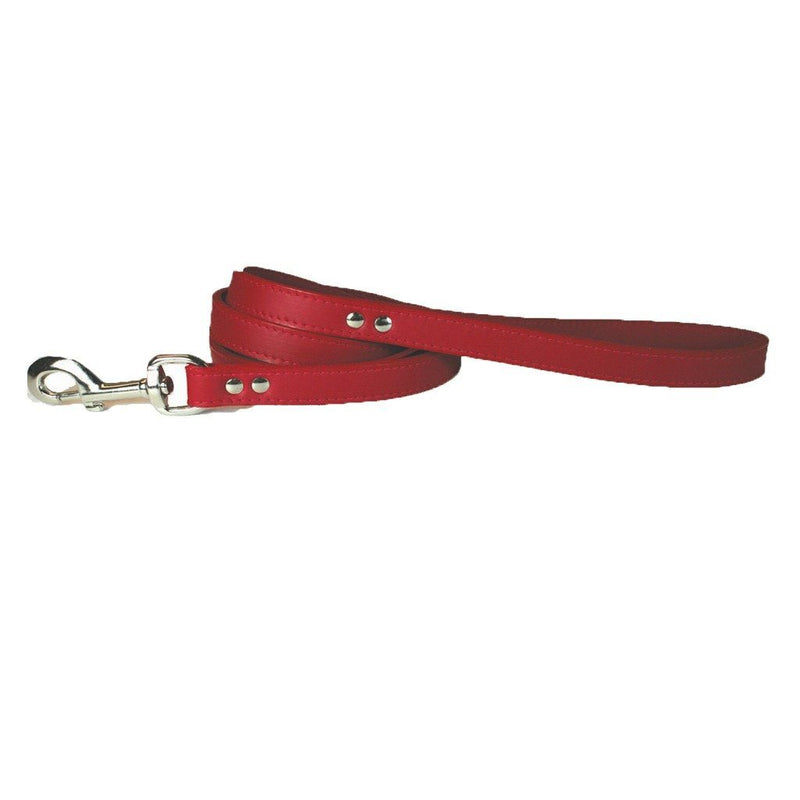 Red Leather Pet Leash
