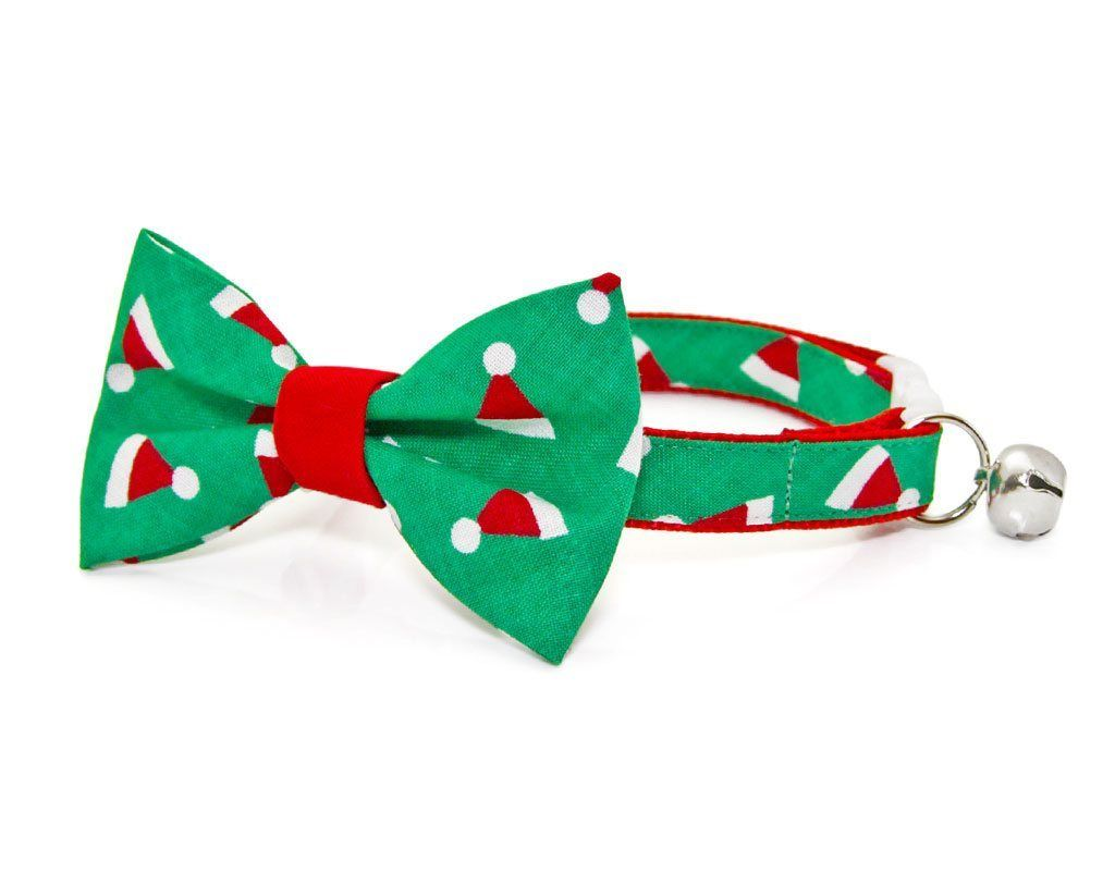 Santa Hats Bow Tie Cat Collar