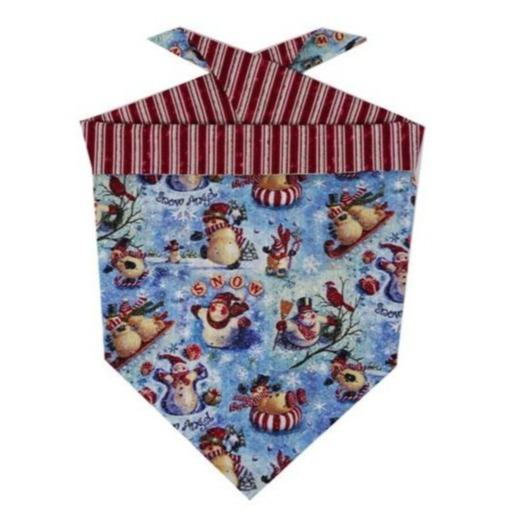 red snowman dog bandana