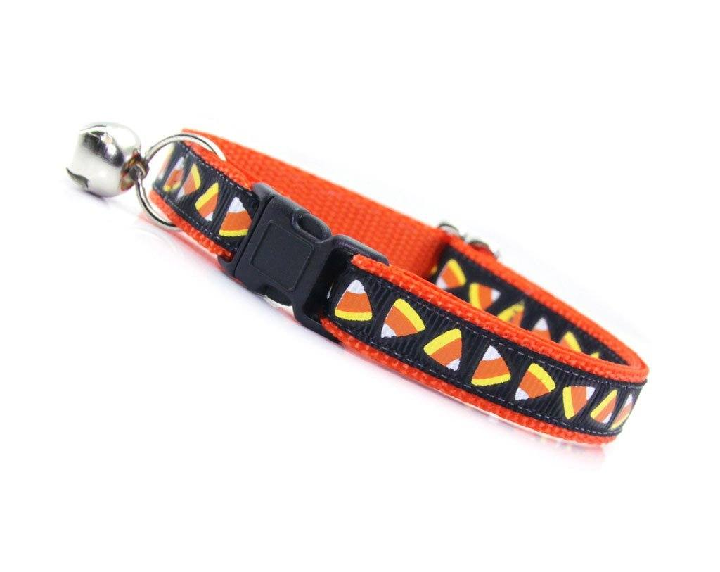 Candy Corn Cat Collar | Halloween Cat Collars