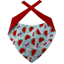 Load image into Gallery viewer, Watermelon and Cherries Dog Bandana