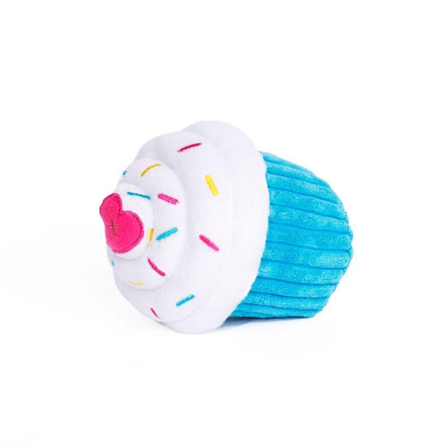 Blue Cupcake Dog Toy