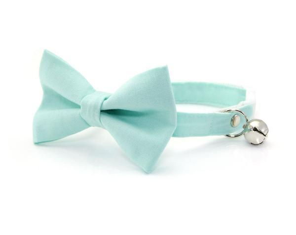 Mint Bow Tie Cat Collar
